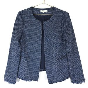 Lark & Ro Tweed Blazer Jacket Open Front